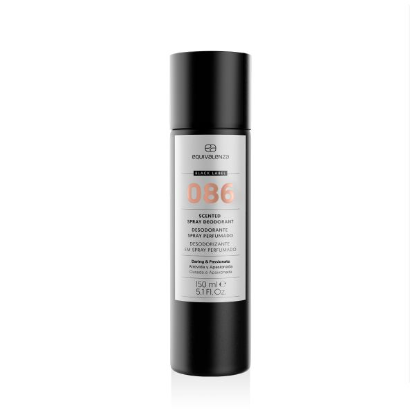 Desodorizante spray perfumado Black Label 086