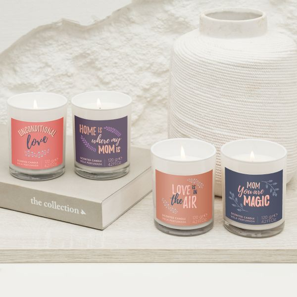 Candela personalizzabile aroma ylang- ylang e gelsomino
