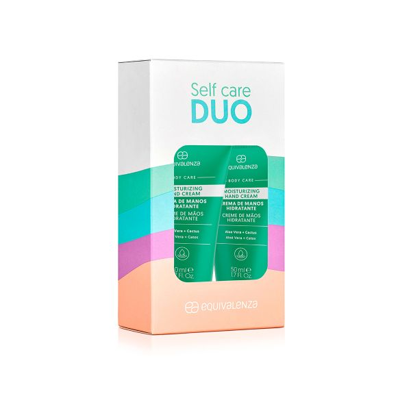 Pack of 2 moisturizing hand creams aloe vera