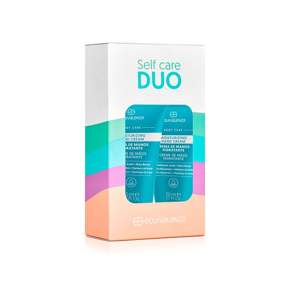 Pack of 2 moisturizing hand creams hyaluronic acid