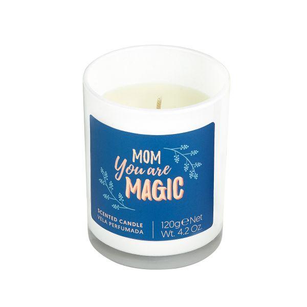 Vela personalizável com aroma a âmbar e canela