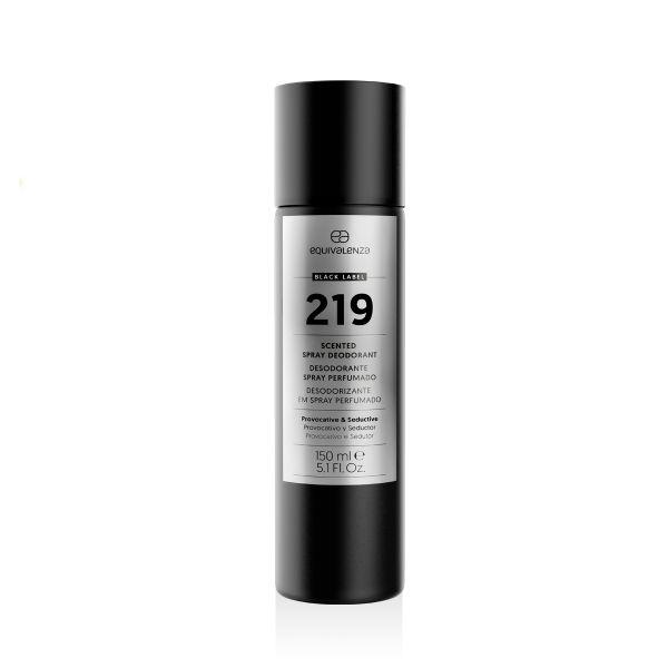 Desodorizante spray perfumado Black Label 219