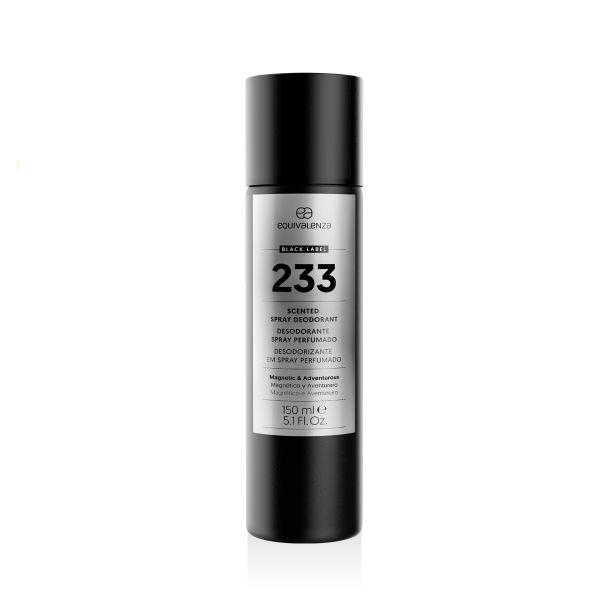 Deodorante spray profumato Black Label 233