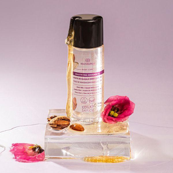 Beautifying massage body oil