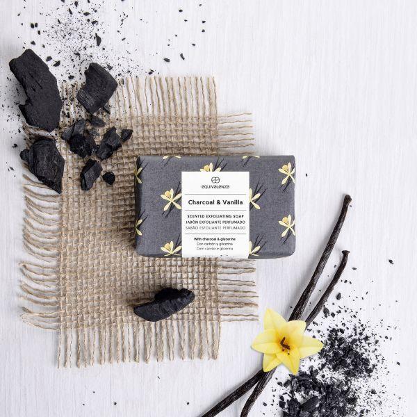 Jabón exfoliante Charcoal & Vanilla