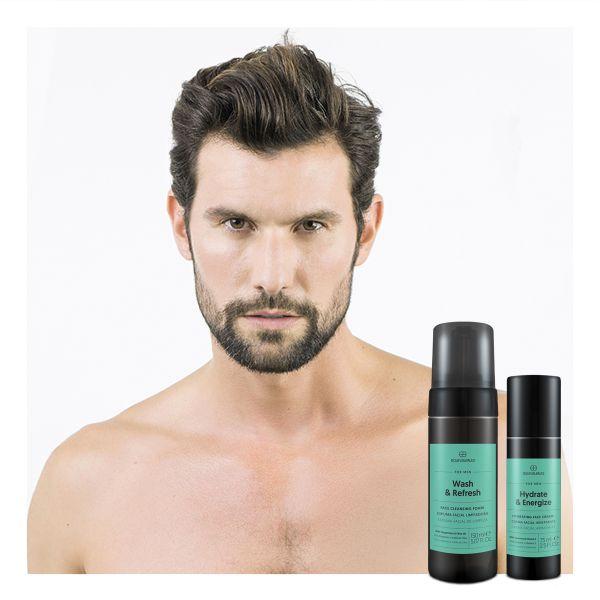 Equivalenza Energy & GO Set de cuidado facial masculino