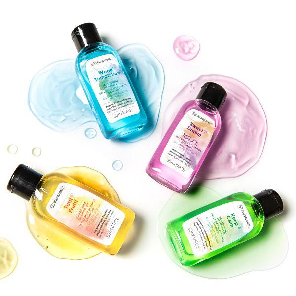 Gel de limpeza de mãos perfumado Tutti Frutti (pêssego e ananás)