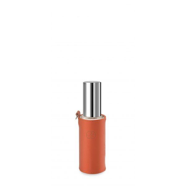 Housse décorative orange pour flacon 30ml.
