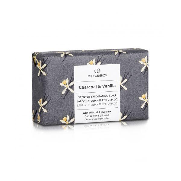 Savon exfoliant: Charcoal & vanilla